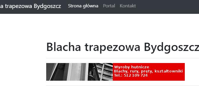 Serwis: blacha trapezowa Bydgoszcz